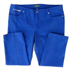 LRL Lauren Jean's Co Royal Blue Straight leg Pants